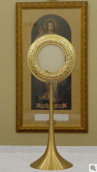 Monstrance from Italy - Sacred Heart Church Adoration Chapel0559